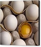 Gold And Eggs Canvas Print by J L Woody Wooden