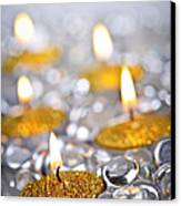 Gold Christmas Candles Canvas Print by Elena Elisseeva