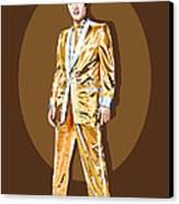 Gold Lamee Elvis Canvas Print by Jarod