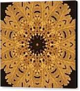 Gold Oak Leaves Canvas Print by Dawn LaGrave