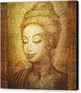 Golden Buddha Canvas Print by Ananda Vdovic
