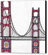 Golden Gate Bridge By Flower Child Canvas Print by Michael Friend