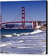 Golden Gate Bridge - Seen From Baker Beach Canvas Print by Melanie Viola