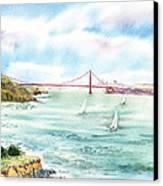 Golden Gate Bridge View From Point Bonita Canvas Print by Irina Sztukowski