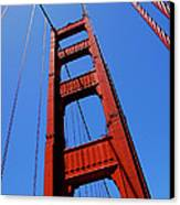 Golden Gate Tower Canvas Print by Rona Black