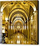Golden Government Canvas Print by Greg Fortier