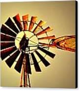 Golden Light Windmill Canvas Print by Marty Koch