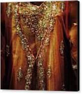 Golden Oriental Dress Canvas Print by Mythja  Photography