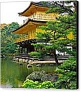 Golden Pavilion - Kyoto Canvas Print by Juergen Weiss