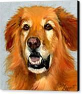 Golden Retriever Dog Canvas Print by Alice Leggett
