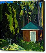 Golf Course Shed Series No.19 Canvas Print by Charlie Spear