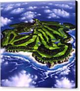 Golfer's Paradise Canvas Print by Jerry LoFaro