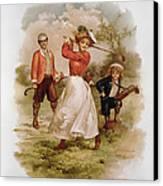 Golfing Canvas Print by Ellen Hattie Clapsaddle