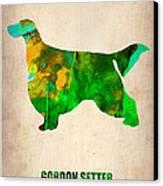 Gordon Setter Poster 2 Canvas Print by Naxart Studio