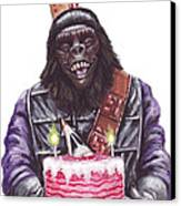 Gorilla Party Canvas Print by Mark Tavares