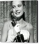 Grace Kelly At Awards Show Canvas Print by Retro Images Archive
