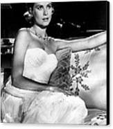 Grace Kelly Looking Gorgeous Canvas Print by Retro Images Archive