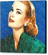 Grace Kelly Painting Canvas Print by Gianfranco Weiss