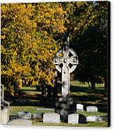 Graceland Cemetery Chicago - Tomb Of John W Root Canvas Print by Christine Till