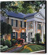 Graceland Home Of Elvis Canvas Print by Cecilia Brendel