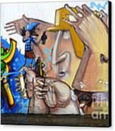 Graffiti Art Curitiba Brazil  19 Canvas Print by Bob Christopher