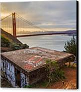 Graffiti By The Golden Gate Bridge Canvas Print by Sarit Sotangkur