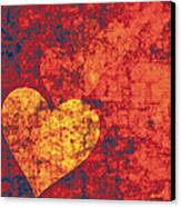 Graffiti Hearts Canvas Print by The Art of Marsha Charlebois