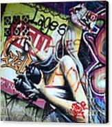 Grafitti Art Florianopolis Brazil 1 Canvas Print by Bob Christopher