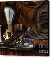 Grain Elevator Canvas Print by Bob Christopher