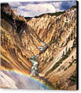 Grand Canyon Of Yellowstone 1 Canvas Print by Thomas Woolworth