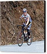 Grand Fondo Bike Ride Canvas Print by Susan Leggett