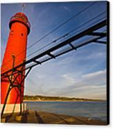 Grand Haven Lighthouse Canvas Print by Adam Romanowicz