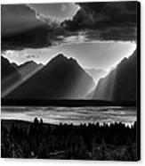 Grand Teton Light Beams Canvas Print by Aidan Moran
