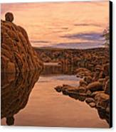 Granite Dells Canvas Print by Priscilla Burgers