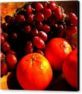 Grapes And Tangerines Canvas Print by Greg Allore