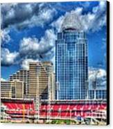 Great American Ballpark Canvas Print by Mel Steinhauer