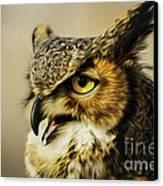 Great Horned Owl Canvas Print by Julieanna D