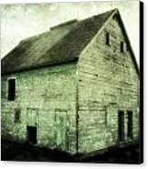 Green Barn Canvas Print by Julie Hamilton