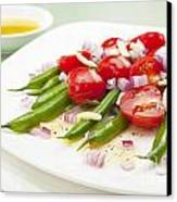 Green Bean And Tomato Salad Canvas Print by Colin and Linda McKie