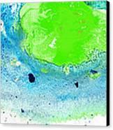Green Blue Art - Making Waves - By Sharon Cummings Canvas Print by Sharon Cummings