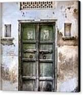 Green Door Canvas Print by Catherine Arnas