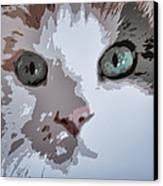 Green Eyes Canvas Print by Patricia Januszkiewicz