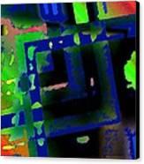 Green Geometric Spots Canvas Print by Mario Perez