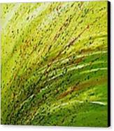 Green Landscape - Abstract Art  Canvas Print by Ismeta Gruenwald