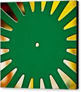Green Memorial Union Chair Canvas Print by Christi Kraft