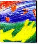 Green Sean Turtles Canvas Print by Genevieve Esson