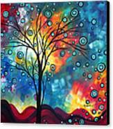Greeting The Dawn By Madart Canvas Print by Megan Duncanson
