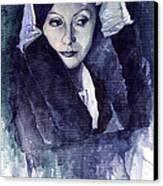 Greta Garbo Canvas Print by Yuriy  Shevchuk