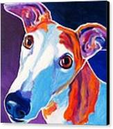 Greyhound - Halle Canvas Print by Alicia VanNoy Call
