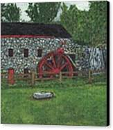 Grist Mill At Wayside Inn Canvas Print by Cliff Wilson